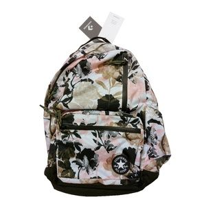 d31efae3bada9c Converse Bags - Converse Pink Floral   Olive Green Backpack Bag